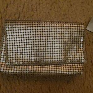 Silver metal purse